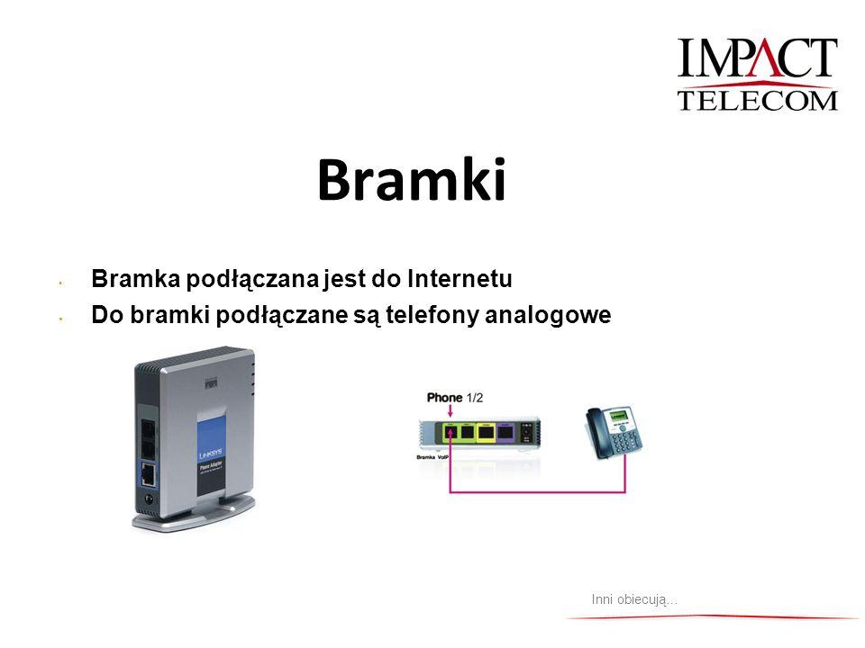 Bramki Inni obiecują… Bramka podłączana jest do Internetu Do bramki podłączane są telefony analogowe