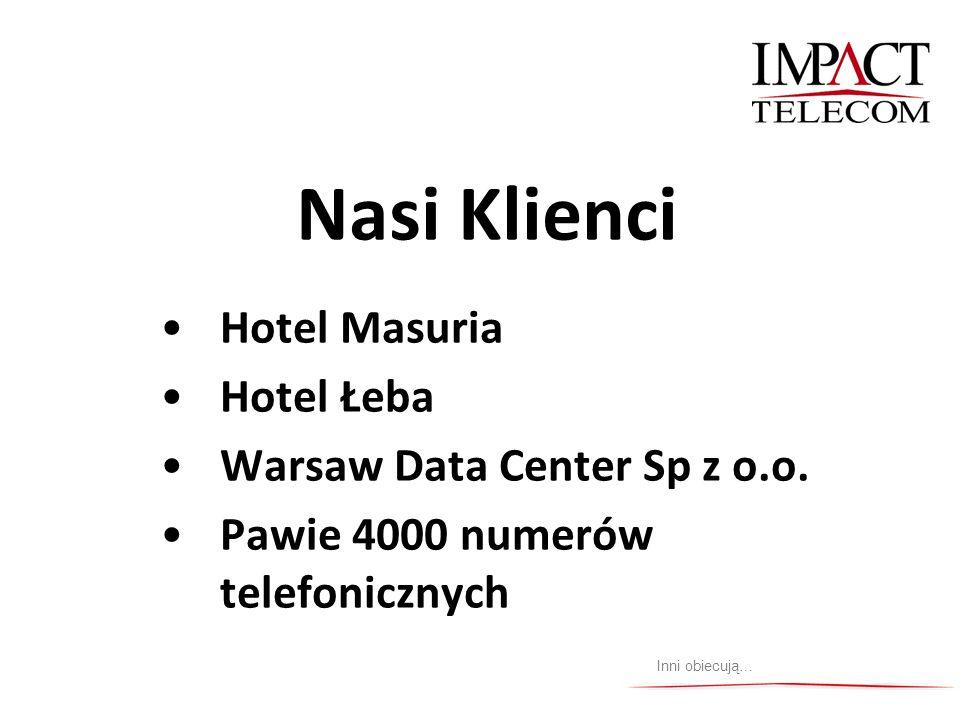 Nasi Klienci Hotel Masuria Hotel Łeba Warsaw Data Center Sp z o.o. Pawie 4000 numerów telefonicznych Inni obiecują…