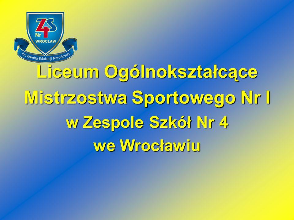 Zespół Szkół Nr 4 we Wrocławiu Zespół Szkół Nr 4 Gimnazjum Nr 38 Liceum Profilowane Nr XIV Liceum Ogólnokształcące Nr XXIV Technikum Nr 4 Liceum Ogólnokształcące Mistrzostwa Sportowego Nr I