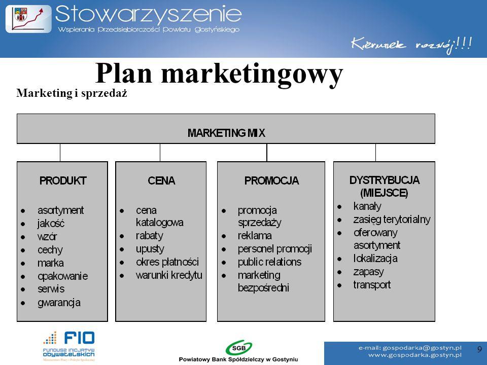 9 Plan marketingowy Marketing i sprzedaż