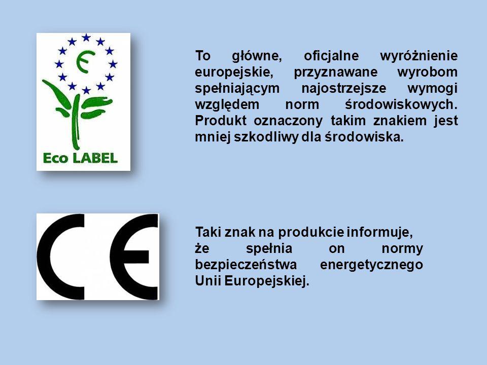 To główne, oficjalne wyróżnienie europejskie, przyznawane wyrobom spełniającym najostrzejsze wymogi względem norm środowiskowych.