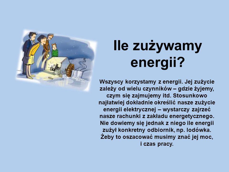 Ile zużywamy energii.Wszyscy korzystamy z energii.