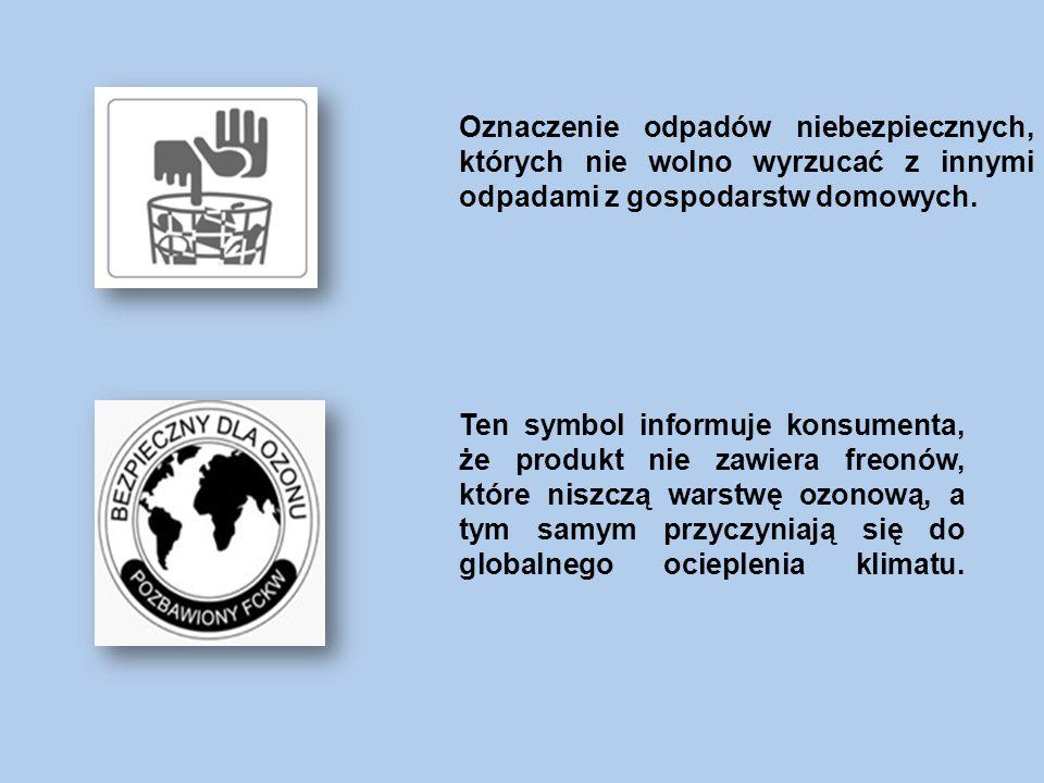 Etykieta energetyczna Etykieta zawierająca informacje o klasie energetycznej i podstawowych parametrach urządzenia, np.