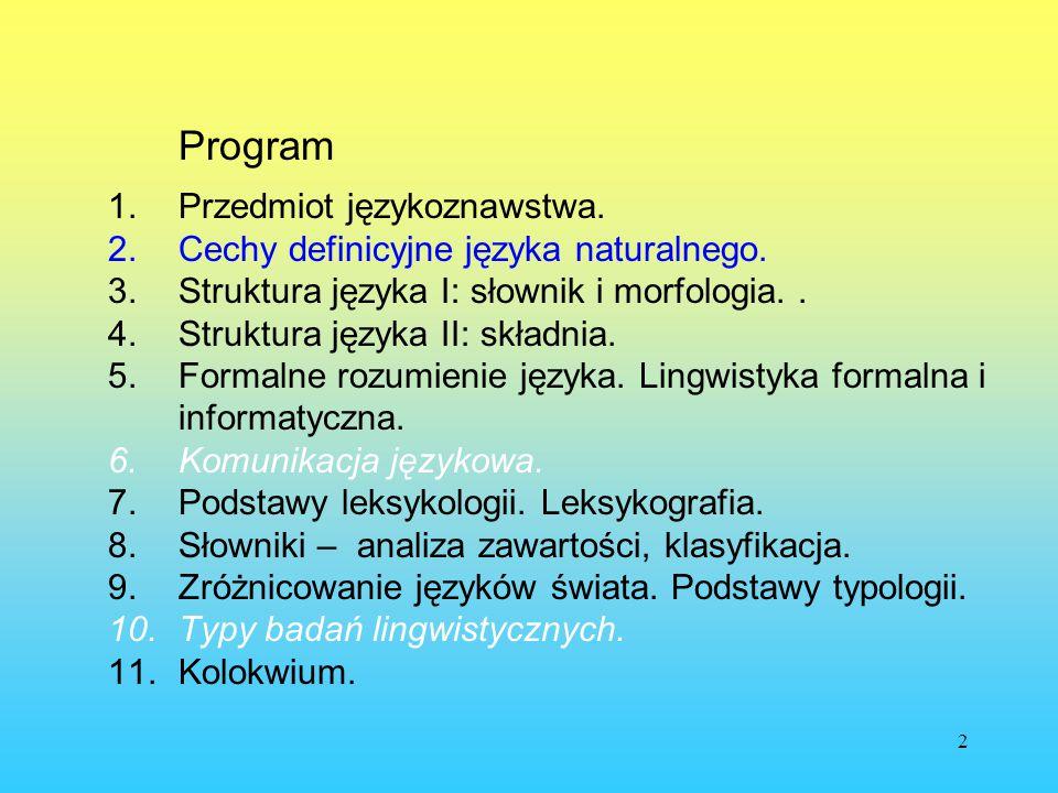 43 Problem składników elementarnych Z czego jest zrobiony (lub: robi się) tekst: a.z liter, głosek lub sylab,DIAKRYTY b.z morfemów,ZNAKI c.ze słów, d.z fraz, e.ze zdań, f.z wypowiedzeń?