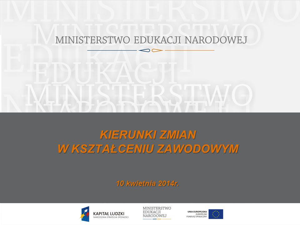 12 Nowa podstawa programowa dla kształcenia zawodowego ukierunkowana jest na efekty kształcenia Minister Edukacji Narodowej wydał ( Dz.
