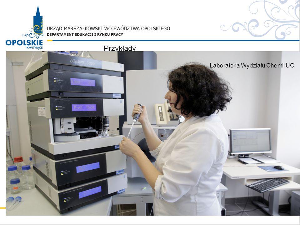 Przykłady Laboratoria Wydziału Chemii UO