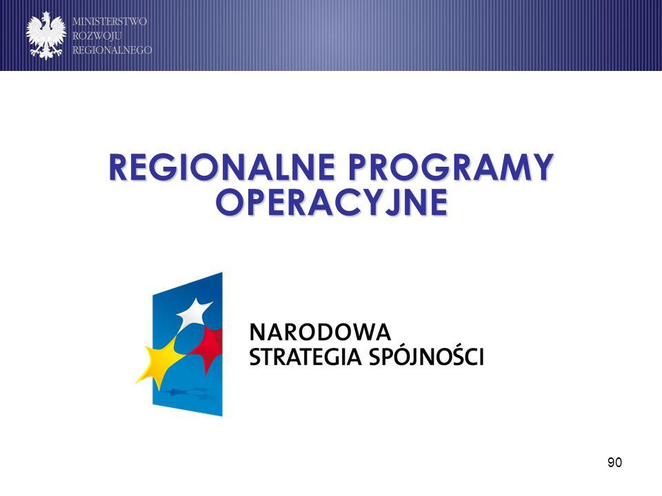 90 REGIONALNE PROGRAMY OPERACYJNE