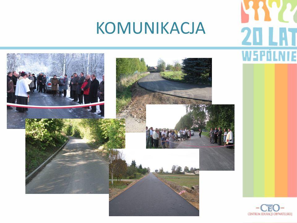 KOMUNIKACJA DROGI -Co roku tych dróg w naszej gminie jest coraz więcej, ba finansujemy nawet drogi powiatowe.
