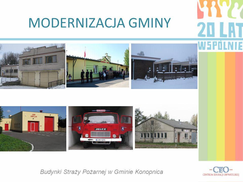 MODERNIZACJA GMINY Budynki Straży Pożarnej w Gminie Konopnica