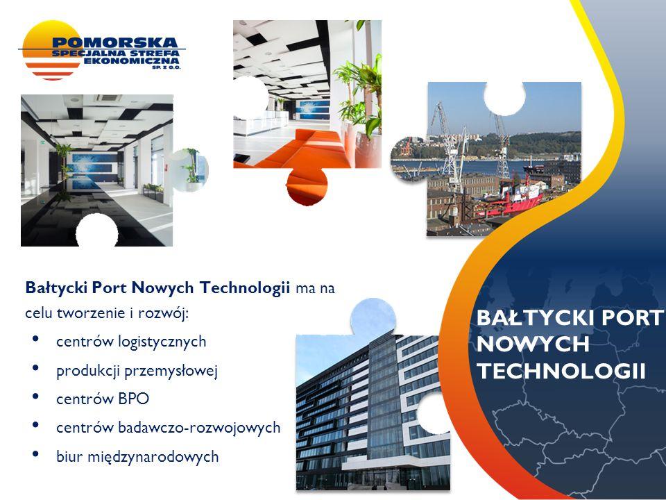 METALBARK Bałtycki Port Nowych Technologii ma na celu tworzenie i rozwój: centrów logistycznych produkcji przemysłowej centrów BPO centrów badawczo-ro