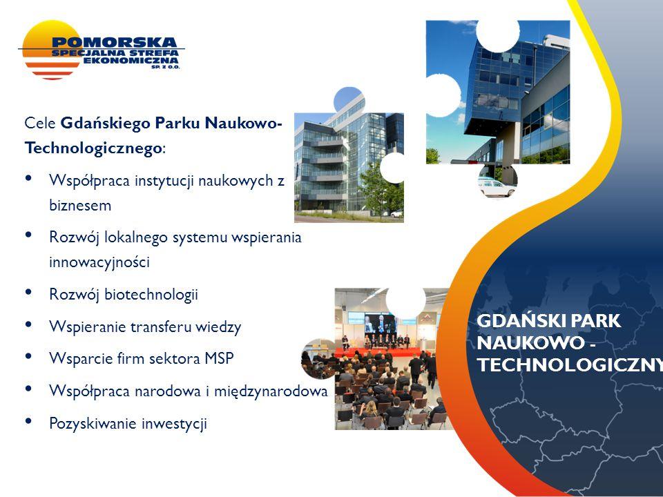 METALBARK Cele Gdańskiego Parku Naukowo- Technologicznego: Współpraca instytucji naukowych z biznesem Rozwój lokalnego systemu wspierania innowacyjnoś