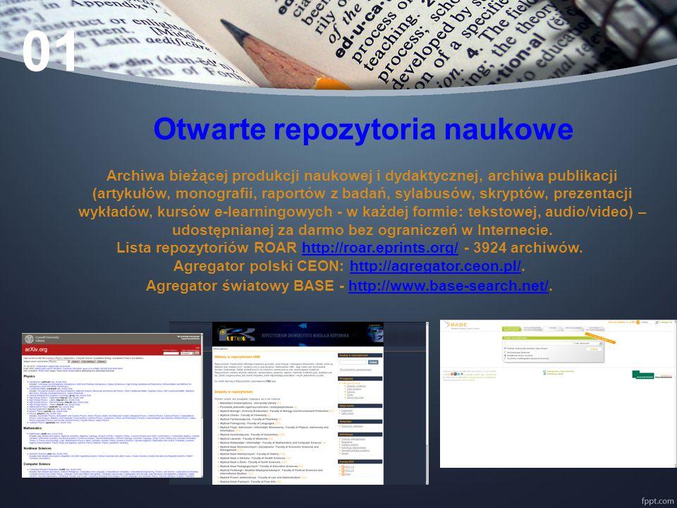 Biblioteki Cyfrowe Archiwa starych zdigitalizowanych obiektów kultury (książek, czasopism, muzealiów, archiwaliów, map itp..) udostępnianych przez instytucje kultury i nauki.