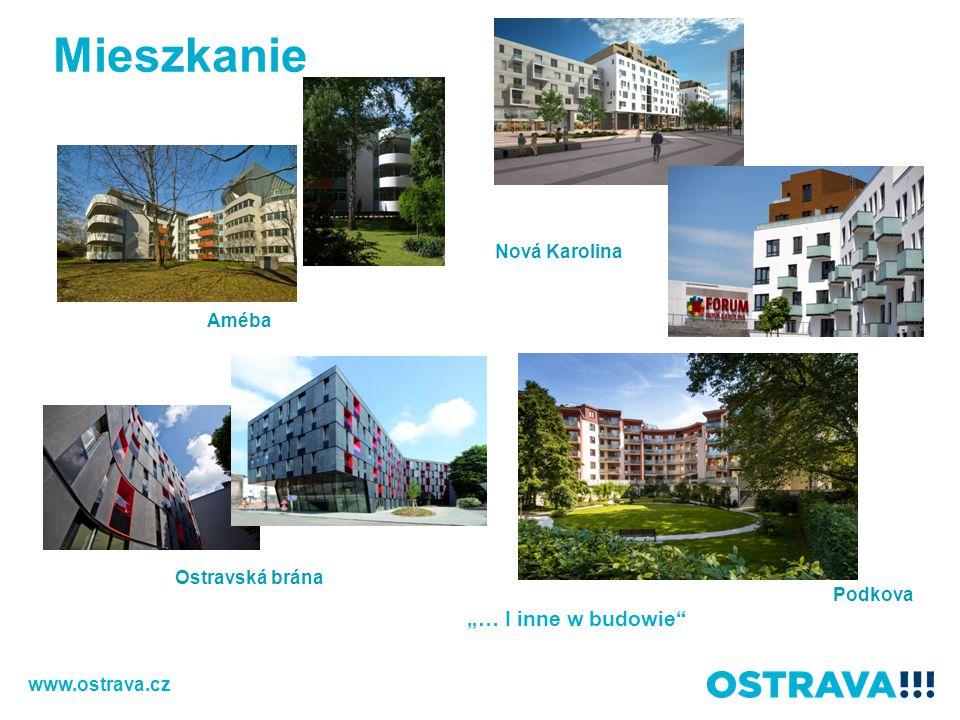 "Améba Nová Karolina Podkova Ostravská brána www.ostrava.cz ""… I inne w budowie Mieszkanie"