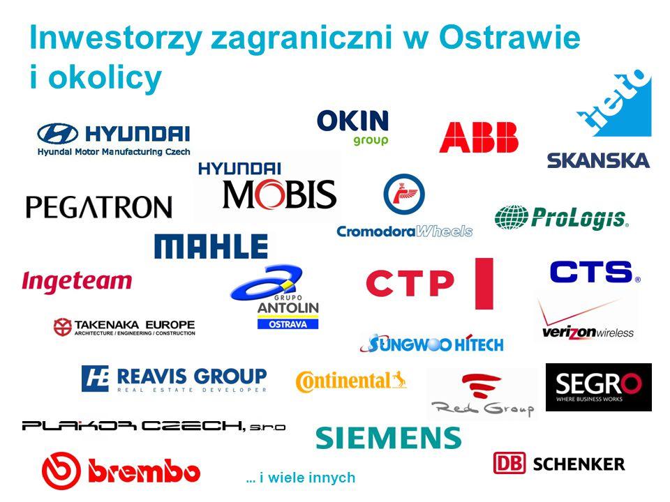 … i wiele innych Inwestorzy zagraniczni w Ostrawie i okolicy