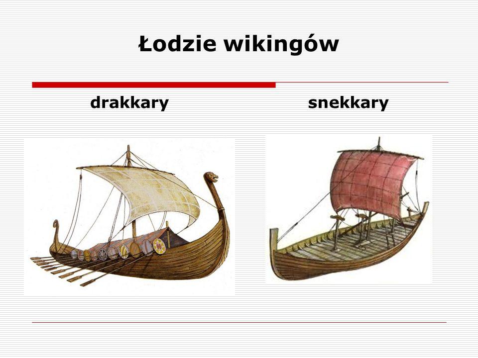 Łodzie wikingów drakkarysnekkary