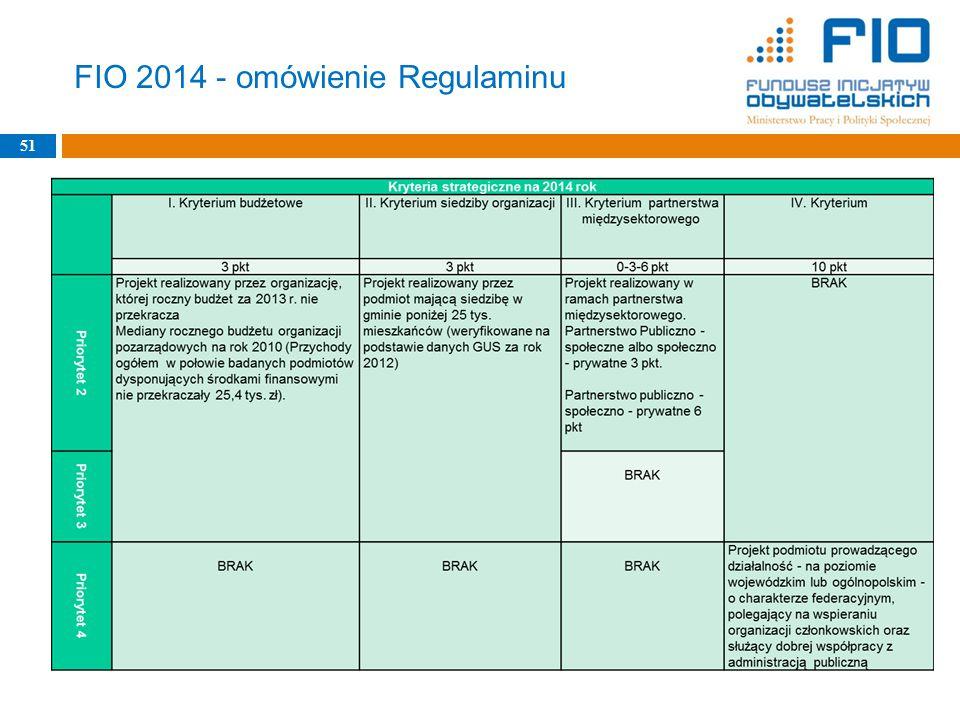 FIO 2014 - omówienie Regulaminu 51