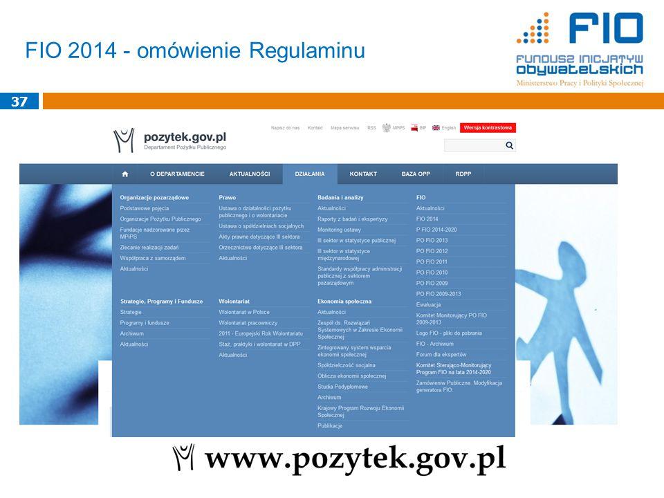 FIO 2014 - omówienie Regulaminu 37