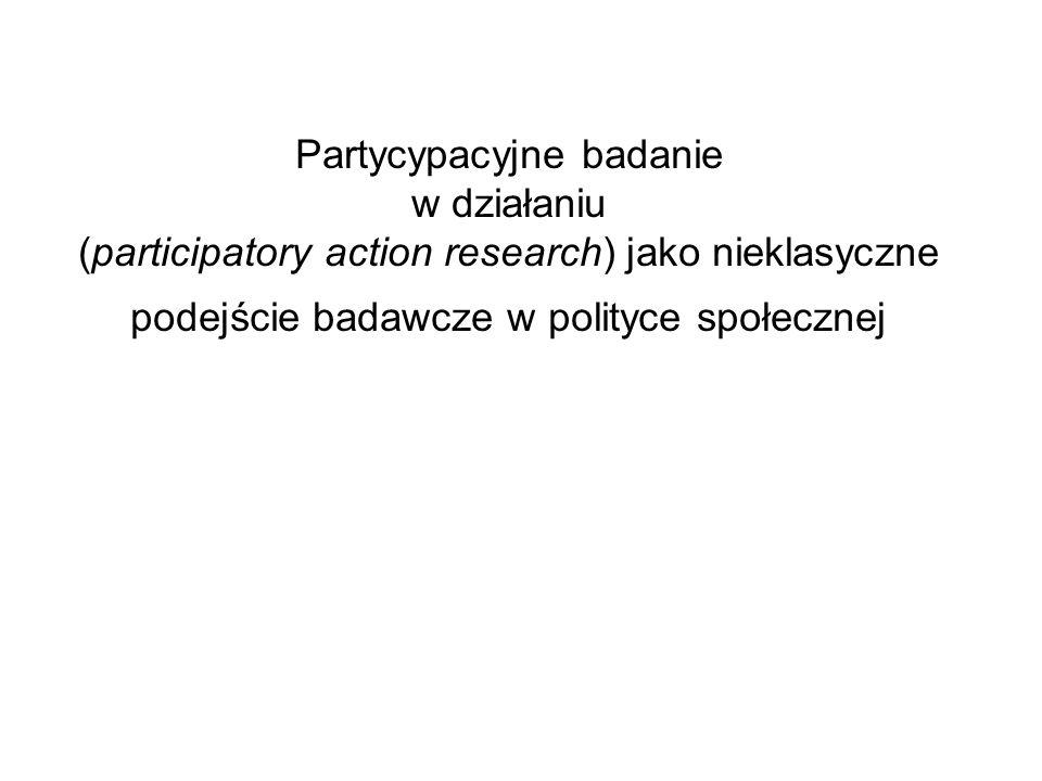 Wstępna charakterystyka PBwD Nie jest metodą badawczą sensu stricte Podejście jakościowe, zwykle przystępowanie do badania bez formułowanych a priori założeń nt.