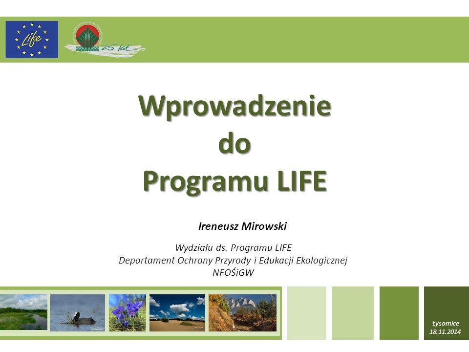 LIFE NA RZECZ ŚRODOWISKA 1.PODPROGRAM DZIAŁAŃ NA RZECZ ŚRODOWISKA 1.1 Obszar priorytetowy: Ochrona środowiska i efektywne gospodarowanie zasobami (a) priorytety tematyczne dotyczące wody, w tym środowiska morskiego (b) priorytety tematyczne dotyczące odpadów (c) priorytety tematyczne dotyczące efektywnego gospodarowania zasobami, w tym glebą i lasami, oraz ekologicznej i obiegowej gospodarki (d) priorytety tematyczne w dziedzinie środowiska i zdrowia, w tym chemikaliów i hałasu (e) priorytety tematyczne dotyczące jakości powietrza i emisji, w tym środowiska miejskiego
