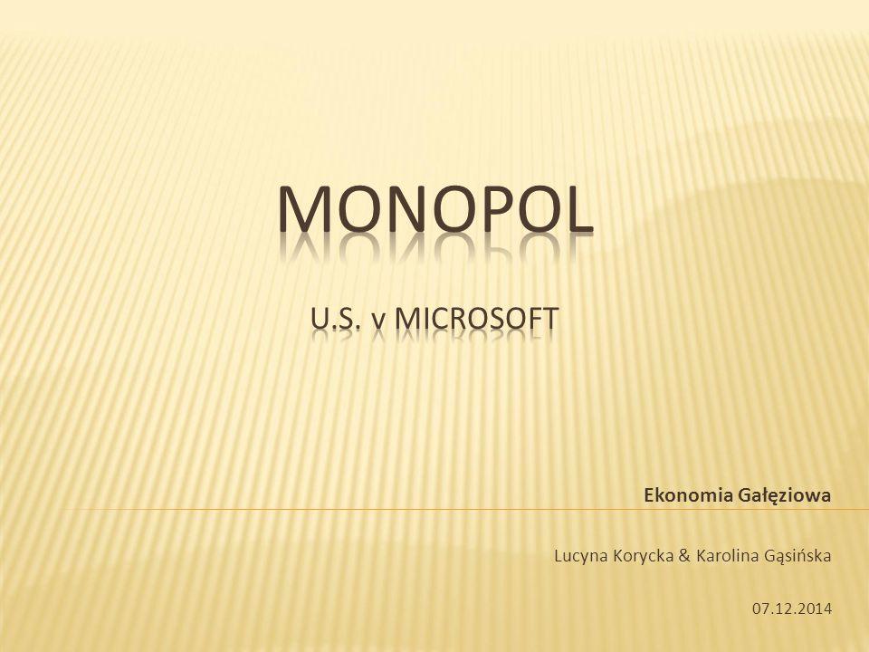 1.Wstęp 2. Sprawa U.S. v Microsoft (1998) 3. Sprawa U.S.