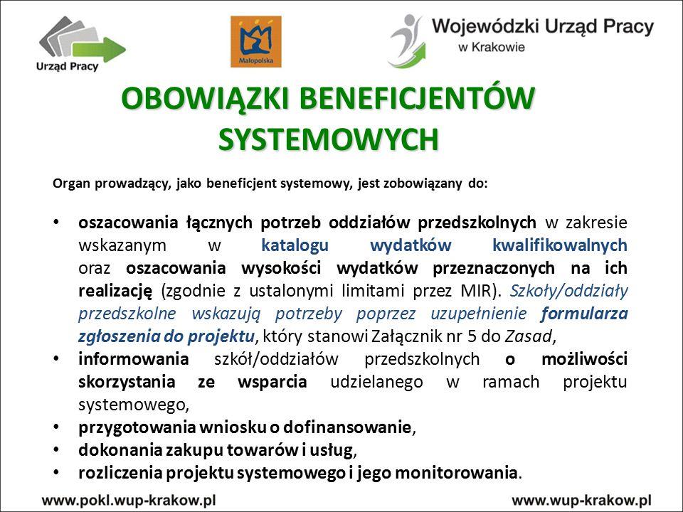 Programy zapewnienia dostępu do wysokiej jakości edukacji przedszkolnej, obejmujące (1): - przygotowanie oddziałów przedszkolnych w szkołach podstawowych do świadczenia wysokiej jakości usług na rzecz dzieci w wieku przedszkolnym (c) – projekty systemowe TYP PROJEKTU