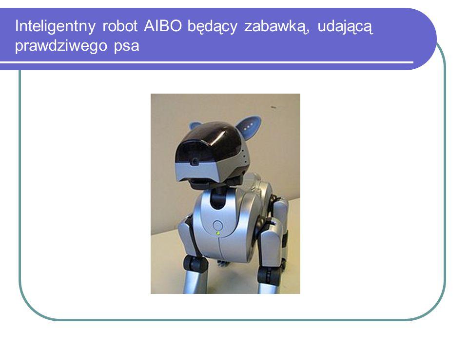 Inteligentny robot AIBO będący zabawką, udającą prawdziwego psa