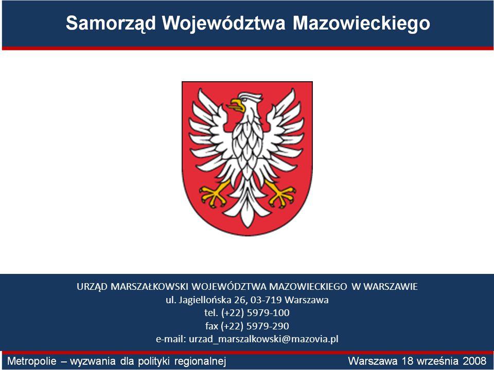 URZĄD MARSZAŁKOWSKI WOJEWÓDZTWA MAZOWIECKIEGO W WARSZAWIE ul.