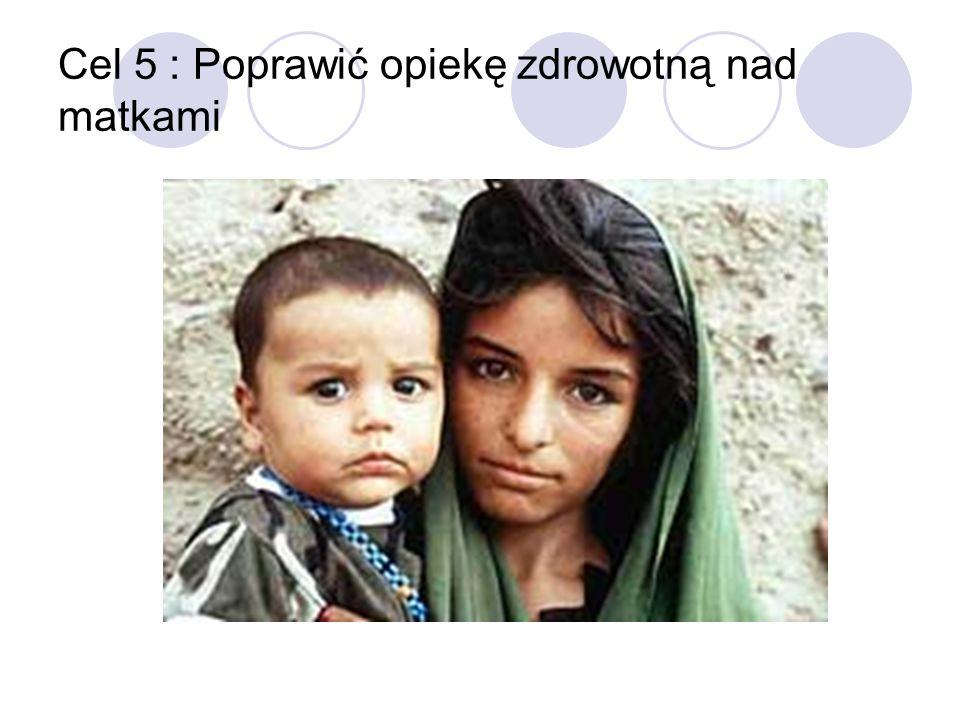 Cel 5 : Poprawić opiekę zdrowotną nad matkami