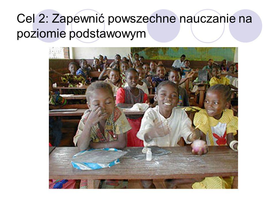 Zobowiązanie 1: zapewnić do 2015 roku wszystkim chłopcom i dziewczętom możliwość ukończenia pełnego cyklu nauki na poziomie podstawowym.