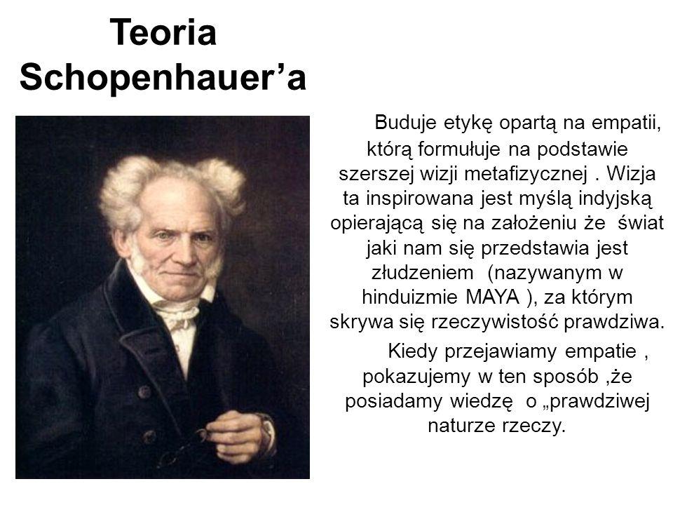 Teoria Schopenhauer'a Buduje etykę opartą na empatii, którą formułuje na podstawie szerszej wizji metafizycznej. Wizja ta inspirowana jest myślą indyj