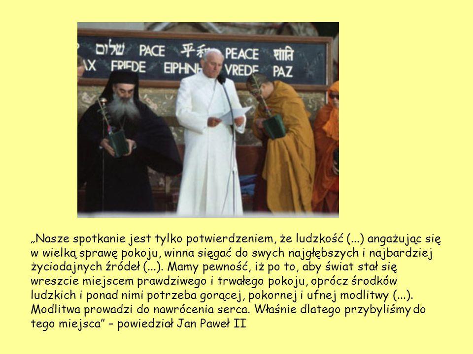 Jan Paweł II nieprzypadkowo wybrał Asyż na miejsce modlitwy.
