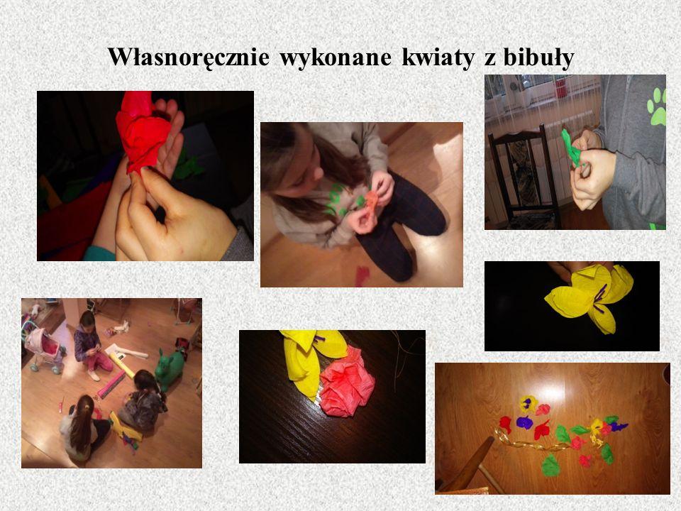Własnoręcznie wykonane kwiaty z bibuły