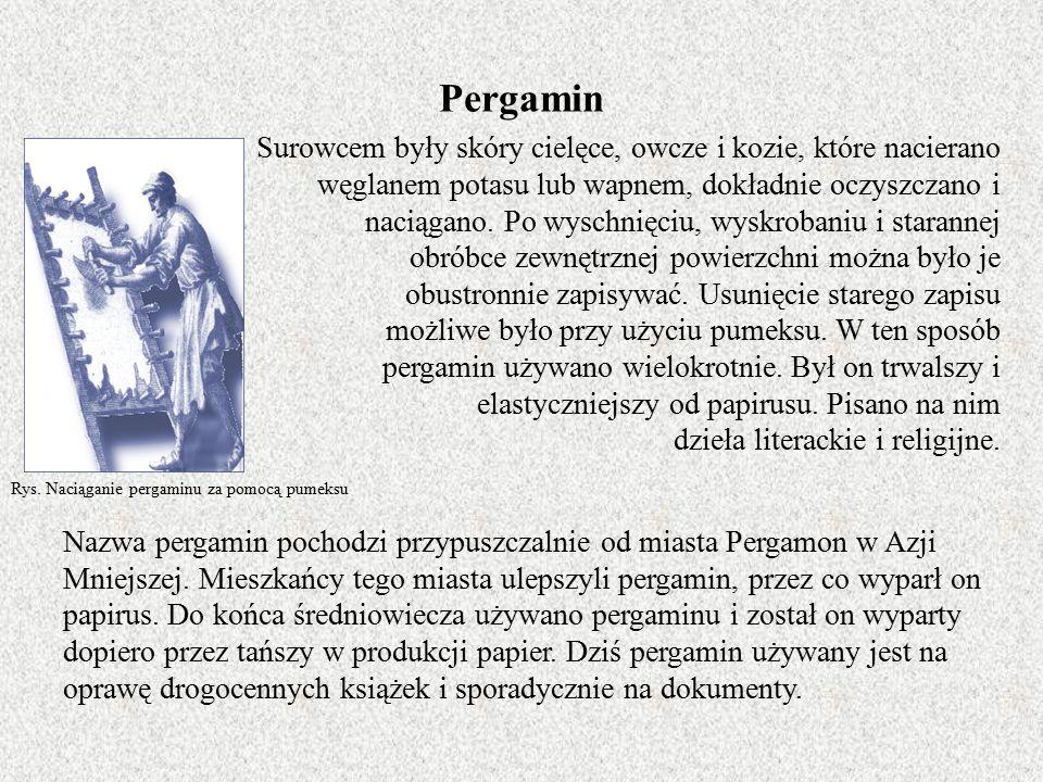 Nowoczesny przemysł papierniczy Po tym jak w pierwszej połowie XIX w.