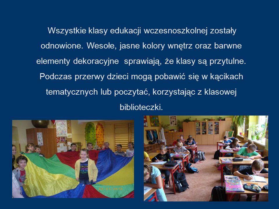 Wszystkie klasy edukacji wczesnoszkolnej zostały odnowione.