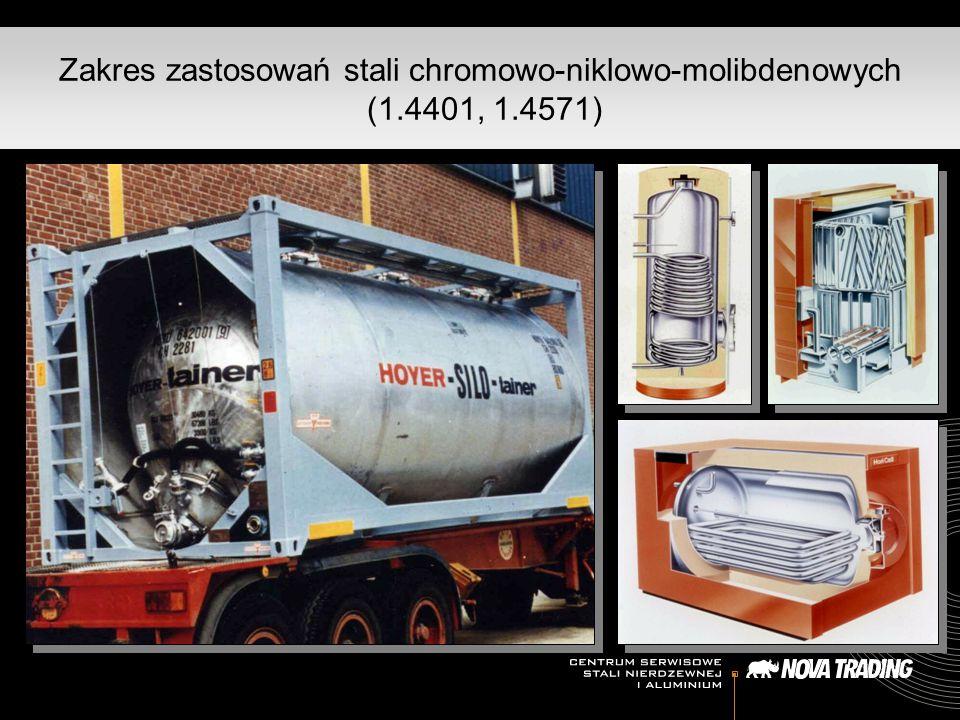 Zakres zastosowań stali chromowo-niklowo-molibdenowych (1.4401, 1.4571)