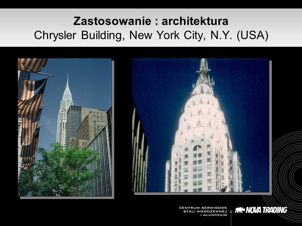 Zastosowanie : architektura Chrysler Building, New York City, N.Y. (USA)
