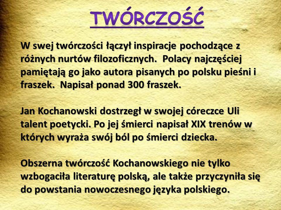 W swej twórczości łączył inspiracje pochodzące z różnych nurtów filozoficznych. Polacy najczęściej pamiętają go jako autora pisanych po polsku pieśni