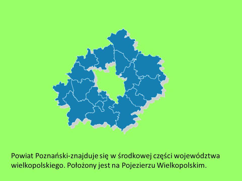 Powiat Poznański-znajduje się w środkowej części województwa wielkopolskiego. Położony jest na Pojezierzu Wielkopolskim.
