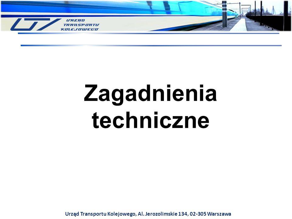 Urząd Transportu Kolejowego, Al. Jerozolimskie 134, 02-305 Warszawa Zagadnienia techniczne
