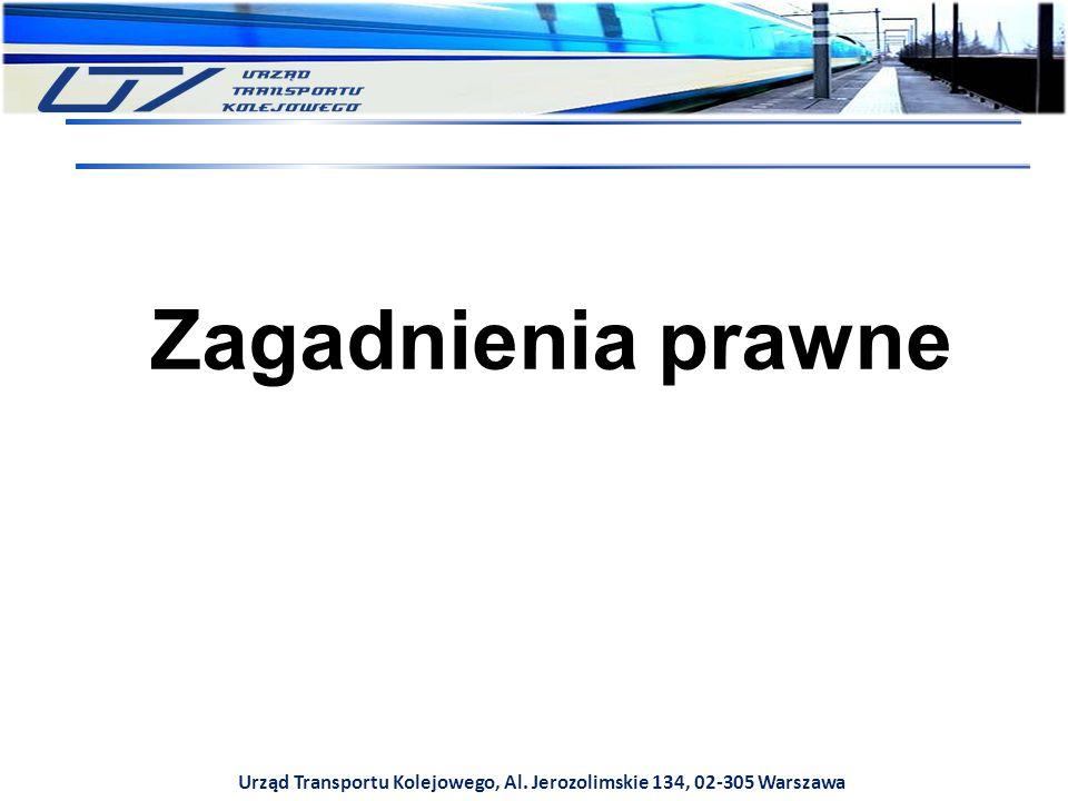 Urząd Transportu Kolejowego, Al. Jerozolimskie 134, 02-305 Warszawa Zagadnienia prawne