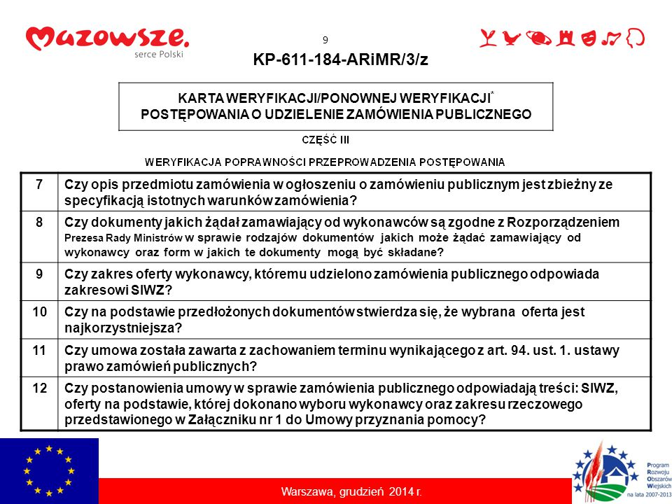 Sankcje za naruszenie przepisów 1.Brak refundacji poniesionych kosztów lub WINDYKACJA 20 Warszawa, grudzień 2014 r.