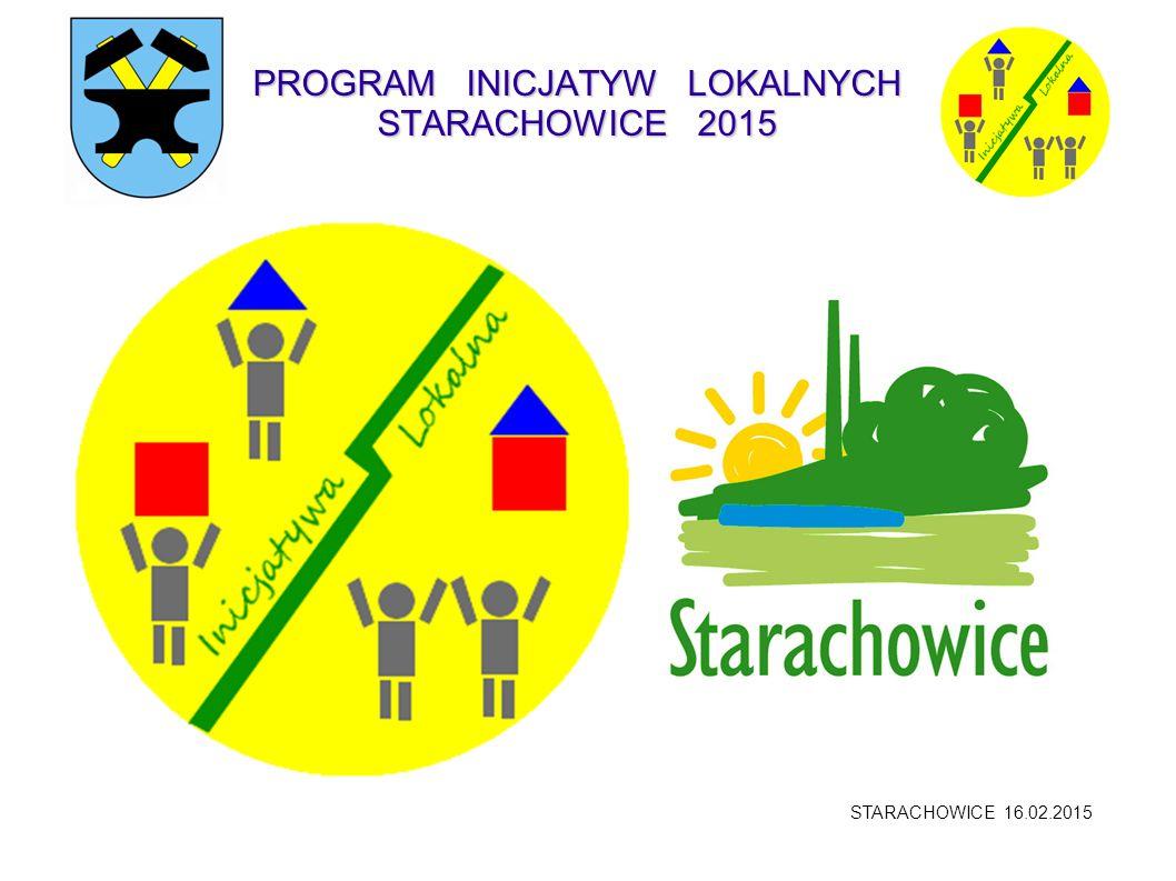 PROGRAM INICJATYW LOKALNYCH STARACHOWICE 2015 STARACHOWICE 16.02.2015