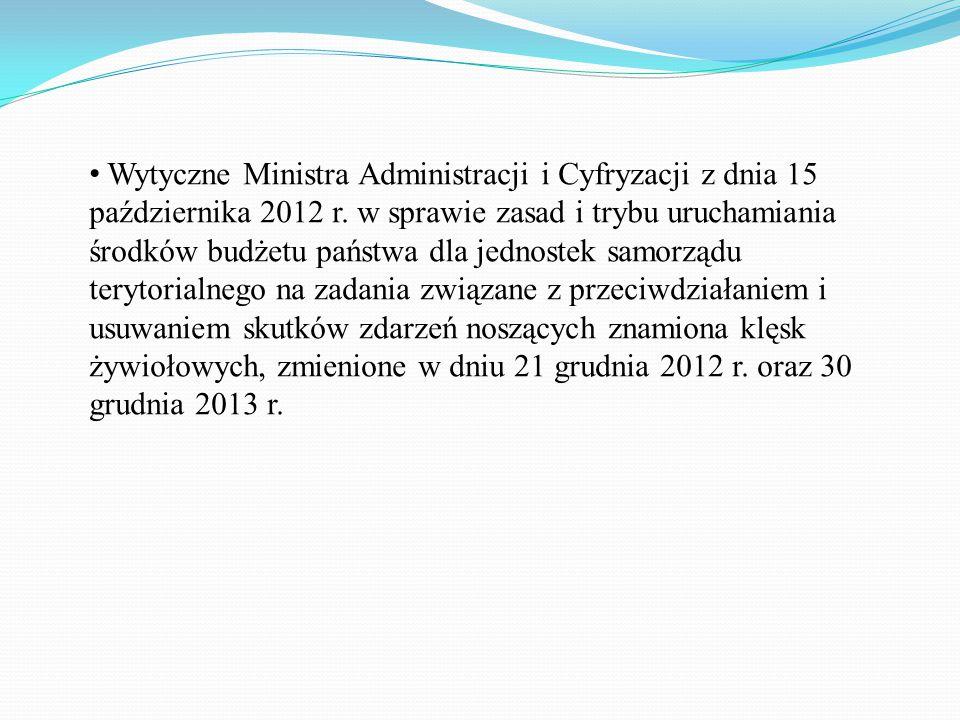 Wytyczne Ministra Administracji i Cyfryzacji z dnia 15 października 2012 r.