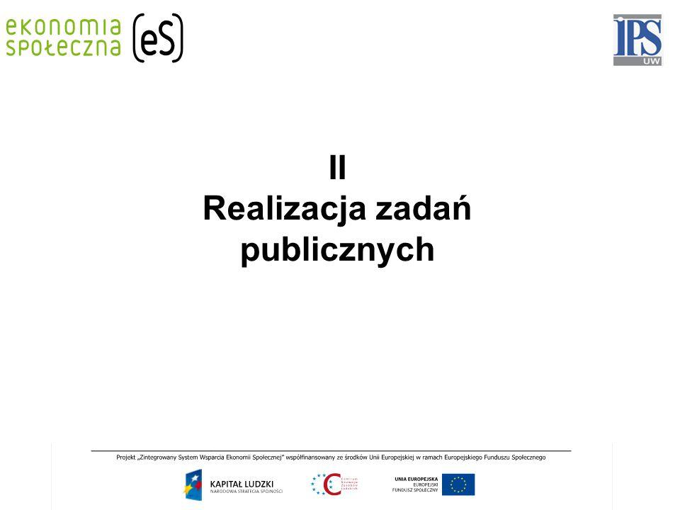 II Realizacja zadań publicznych