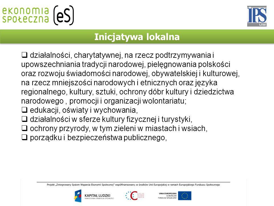 Inicjatywa lokalna  działalności, charytatywnej, na rzecz podtrzymywania i upowszechniania tradycji narodowej, pielęgnowania polskości oraz rozwoju ś