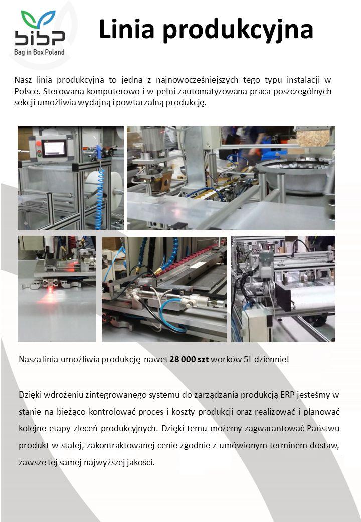 Linia produkcyjna Nasz linia produkcyjna to jedna z najnowocześniejszych tego typu instalacji w Polsce.