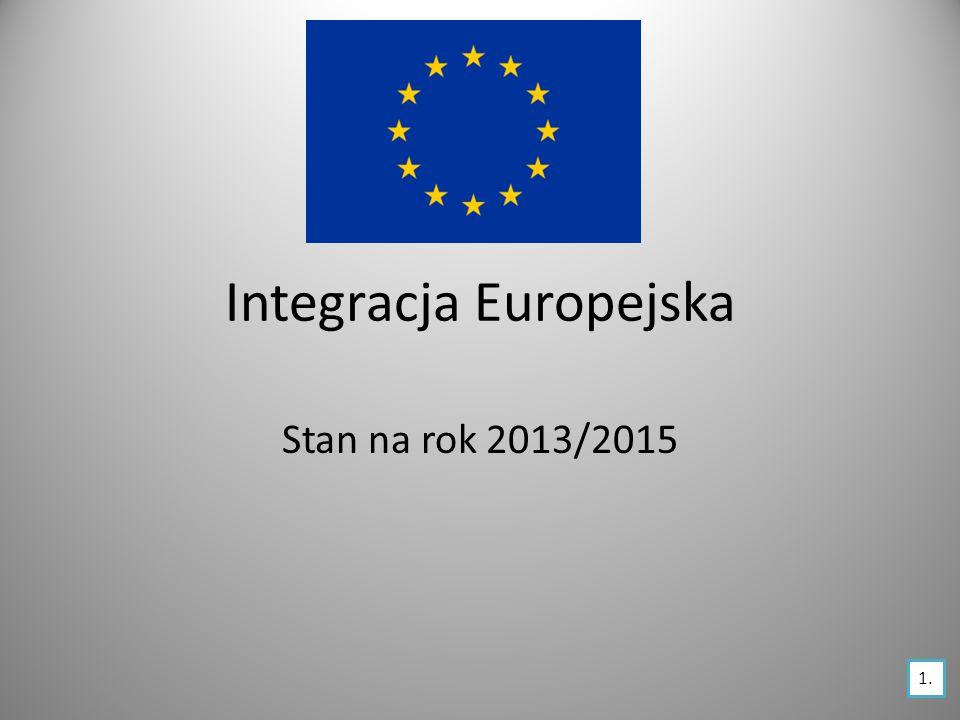 Integracja Europejska Stan na rok 2013/2015 1.