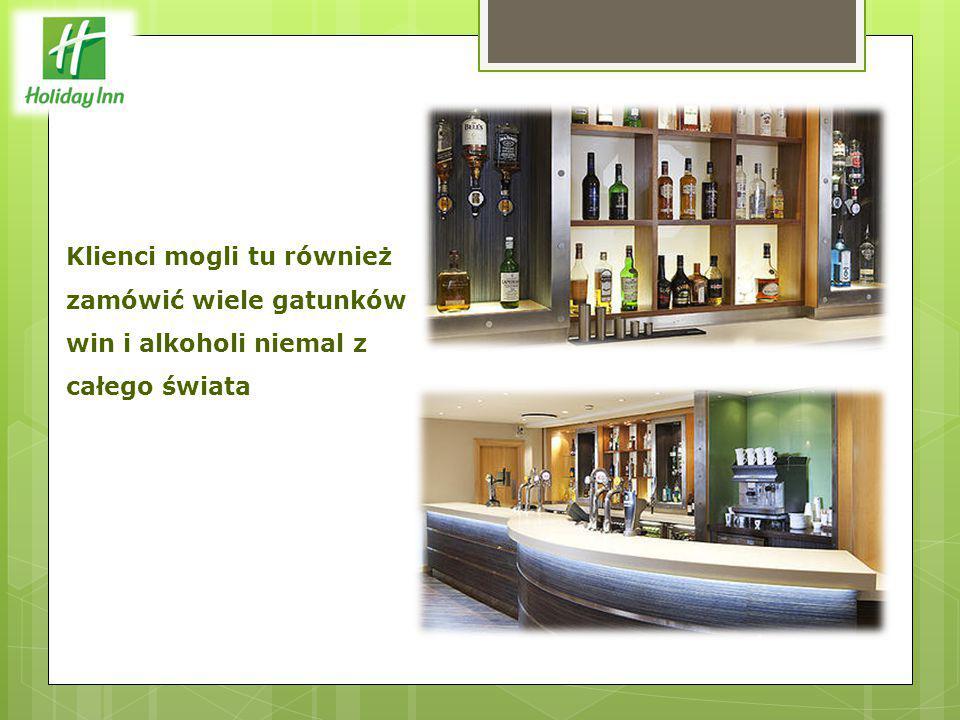 Klienci mogli tu również zamówić wiele gatunków win i alkoholi niemal z całego świata