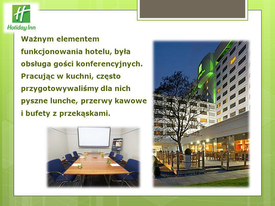 Ważnym elementem funkcjonowania hotelu, była obsługa gości konferencyjnych.