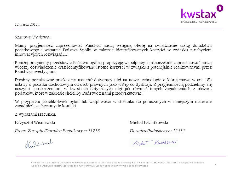 3 KWS Tax Sp.z o.o.